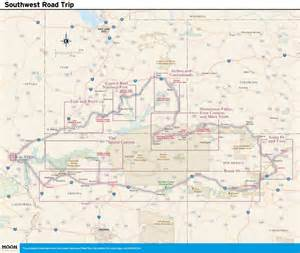 southwest us driving map 14 day best of the southwest road trip moon travel guides