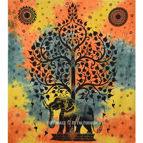 all that jazz wall tapestries and tapestries on pinterest hippie elephant tree tapestry wall hanging tie dye sheet