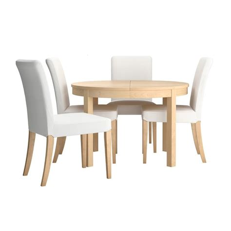 Ikea Birch Dining Table Bjursta Henriksdal Table And 4 Chairs Birch Veneer Gobo White Sofa Bed Mattress Birch And