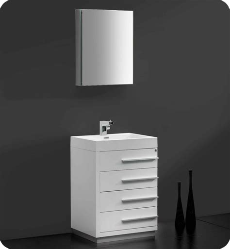fresca fvn8024wh livello 24 quot modern bathroom vanity with