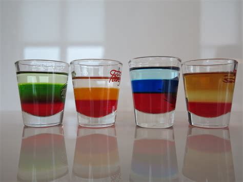 layered rainbow shots image gallery layered shooters