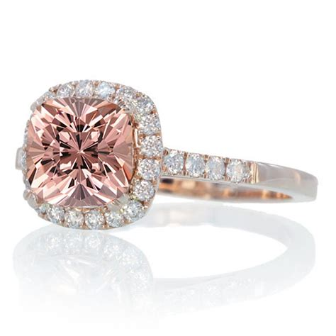 1 5 carat cushion morganite and engagement