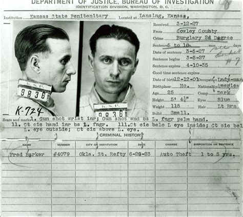 Inmates Records For Free Arthur Barker Home
