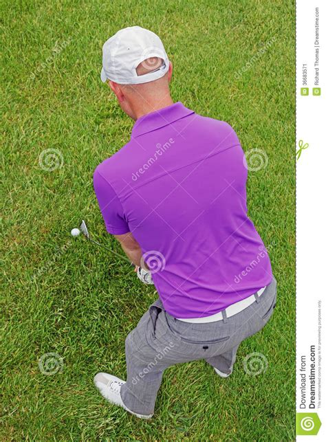 golf swing overhead view golfer overhead rear view stock image image 36683571