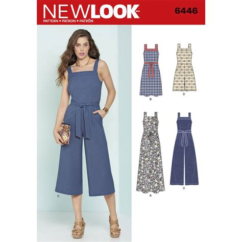 dress pattern jumpsuit misses jumpsuits and dresses new look sewing pattern 6446