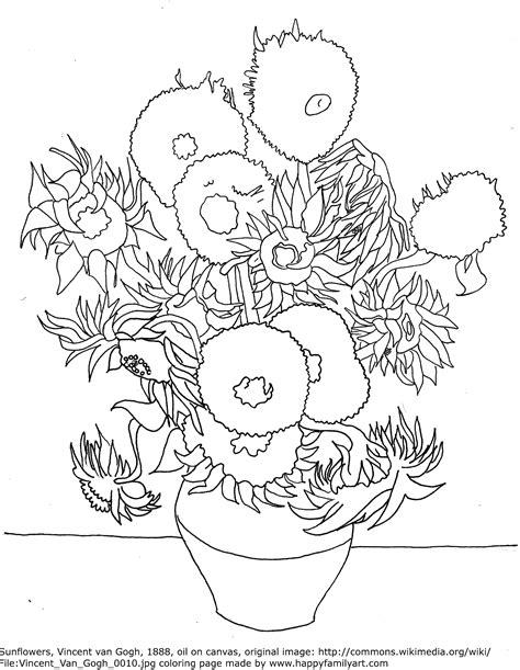 Van Gogh Coloring Pages Printable Coloring Pages Gogh Coloring Page