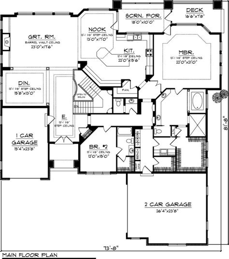 House Plans With Kitchen In Front House Plan 70 1064 3 194 Sq Ft Remove Bump Out Window From Mbr Get Rid Of Basement And
