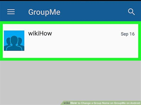 groupme for android how to change a name on groupme on android 9 steps