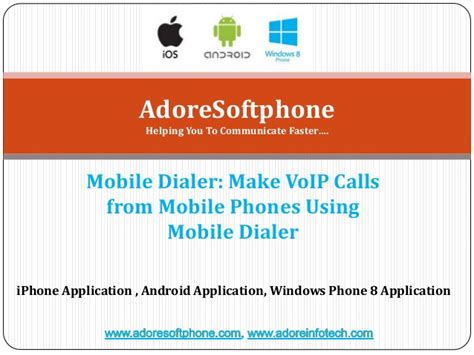 mobile voip for pc mobile dialer