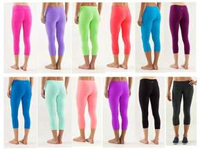 colorful workout capris lululemon i want the purple burgundy one