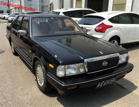 nissan cedric 2016 spotted in china nissan cedric brougham v6 in black