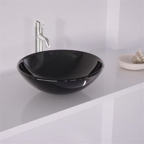 vigo bathroom sinks shop vigo black and brushed nickel glass vessel bathroom