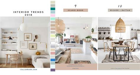 decorating trends 2018 24 key interior decor trends and
