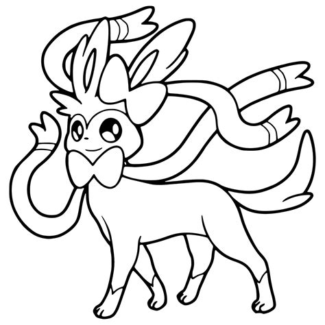 pokemon coloring pages sylveon sylveon coloring pages www imgkid com the image kid