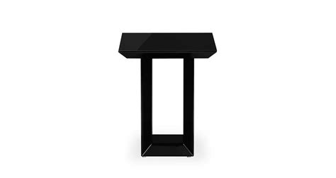 Black Gloss Side Table Side Table High Gloss