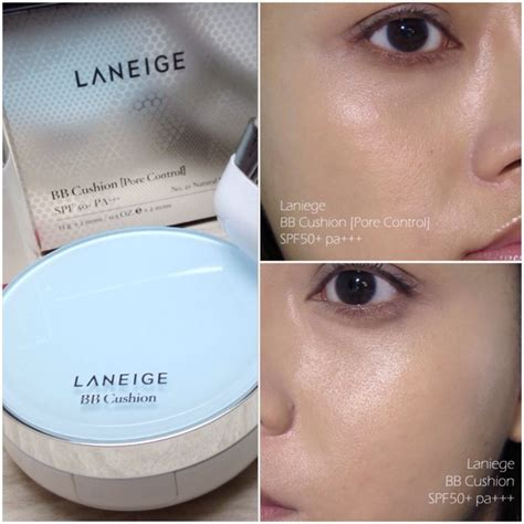 Laneige Powder here s a comparison with the original bb cushion whitening