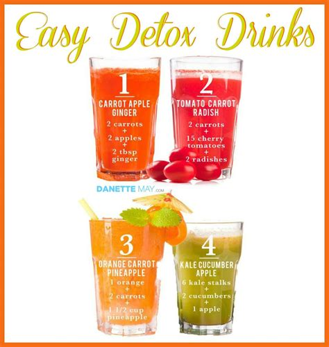 Ease Food Detox Symptoms by Easy Detox Drinks Danette May Easy Detox