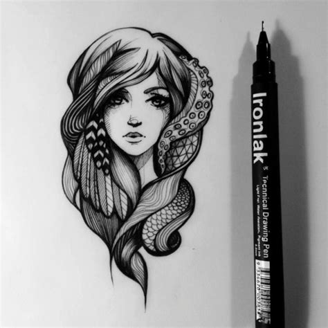 doodle pen and ink pretty drawing illustration design patterns