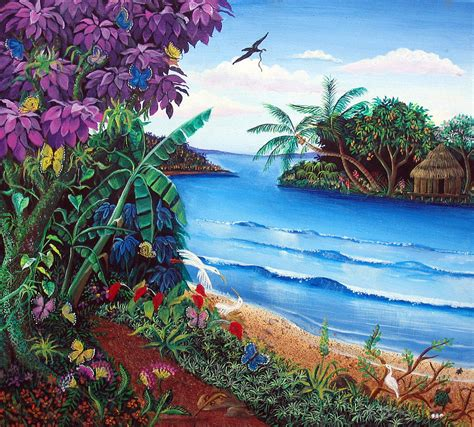 Tropical Paradise Painting by Sarah Hornsby