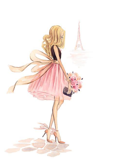custom fashion illustration watercolor portrait fashion