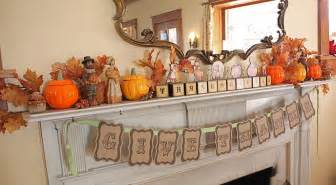 at second thanksgiving mantel and other decor