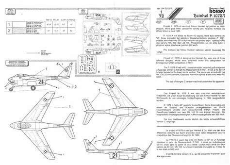 kit plans listed by manufacturer model model luft 46 models heinkel he p1078