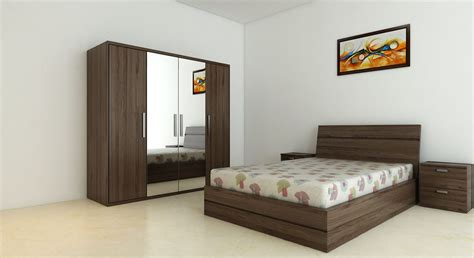 Complete Bedroom Designs Get Modern Complete Home Interior With 20 Years Durability Renne Bed Wardrobe Set