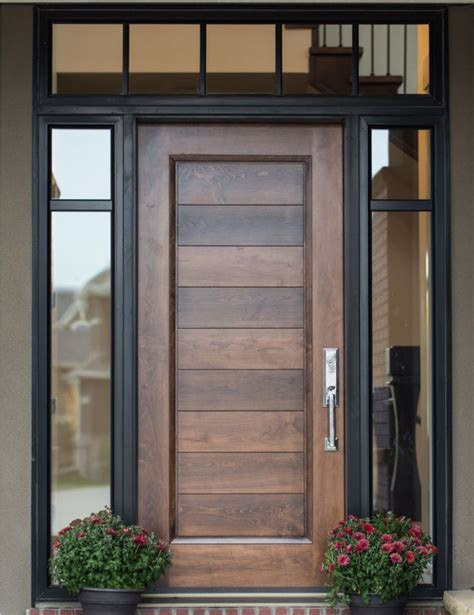 Wood Front Doors With Glass Best 20 Front Door Design Ideas On