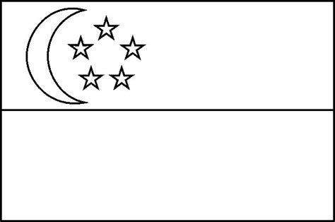 Singapore Flag Coloring Page singapore flag colouring page play