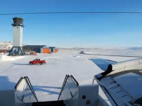 file a sunny view of the ramp at thule air base greenland