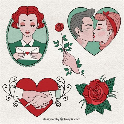 valentines drawings and beautiful day drawings vector