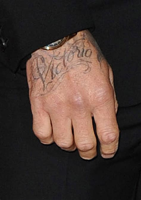 david beckham tattoo on his hand david beckham unveils new tattoo dedicated to wife