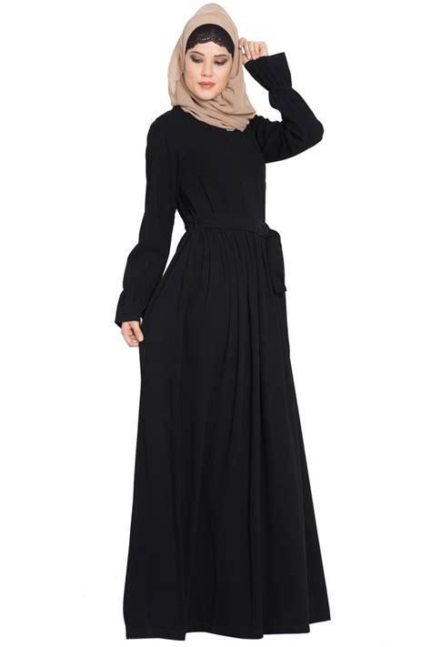 black nida simple   elegant dress abaya