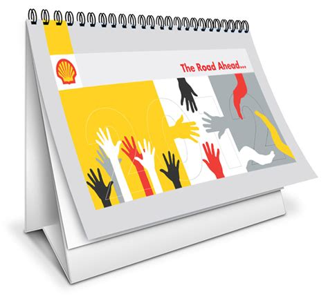 Posters For Office Desk Shell Desk Calendar And Poster Design On Behance