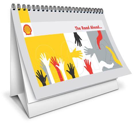 shell desk calendar and poster design on behance
