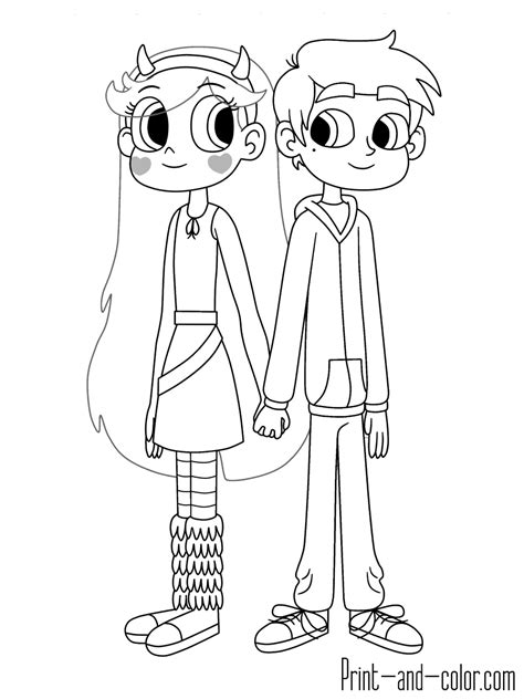 star butterfly coloring page star vs the forces of evil coloring pages print and