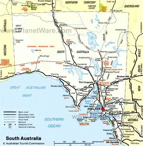south australia map map adelaide australia