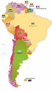 Map Of South America Countries by Flags Of South American Countries I Like This Map Pair It