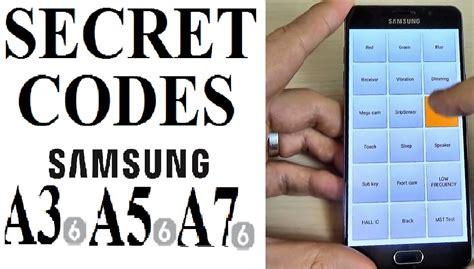 secret hints secret codes for samsung galaxy a3 a5 a7 2016 2017