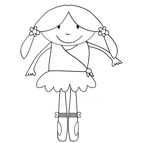 child ballerina coloring page ballerina kids coloring page free stock photo public