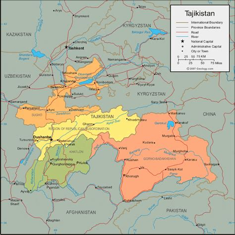 tajikistan map tajikistan map and satellite image