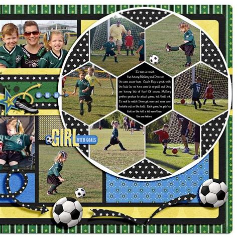 scrapbook layout soccer go stingrays two peas in a bucket creative