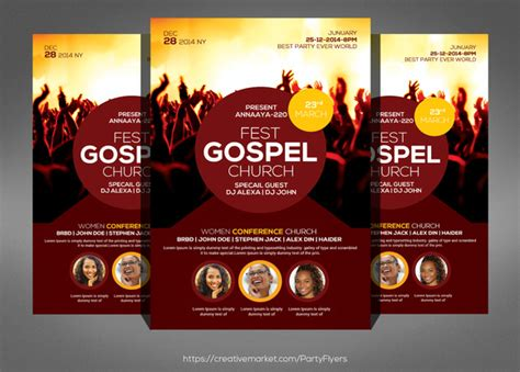 Free Gospel Choir Concert Flyer Templates 187 Designtube Creative Design Content Gospel Church Flyer Template