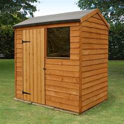 Sheds by 6x4 Reverse Apex Overlap Wooden Shed Buy Sheds Direct Uk