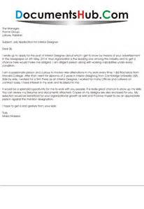 Cover Letter For Interior Designer by Cover Letter For Interior Designer Documentshub