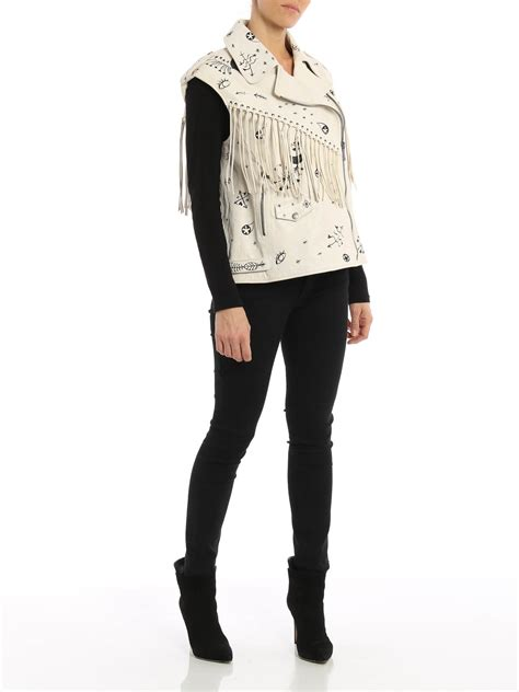 Western Style Shop western style leather waistcoat by valentino leather