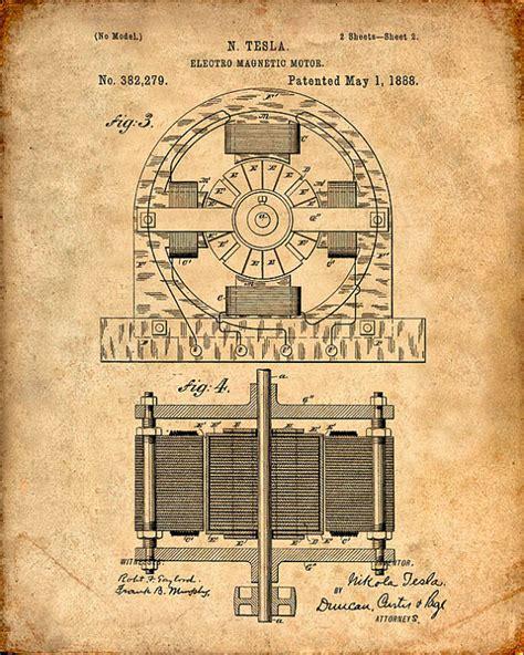 tesla motor patent patent print tesla electro magnetic motor tesla wall