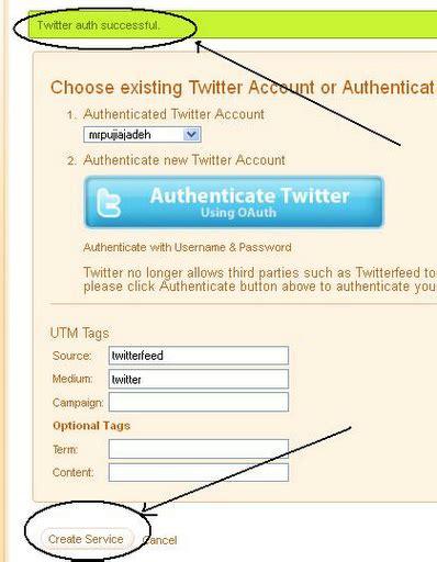 cara membuat twitter feed cara membuat feed blog update ke twitter cor bawor