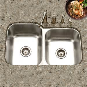 40 Kitchen Sink The Medallion Classic Series 60 40 Undermount Bowl Kitchen Sink By Houzer Kitchensource