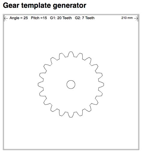 wooden gears template design custom gears with gear template generator app